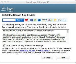 MacJava Ask Adware